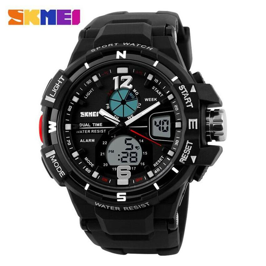 Jam Tangan Pria SKMEI Sport Analog LED Watch Water Resist 50m - AD1148 - Hitam