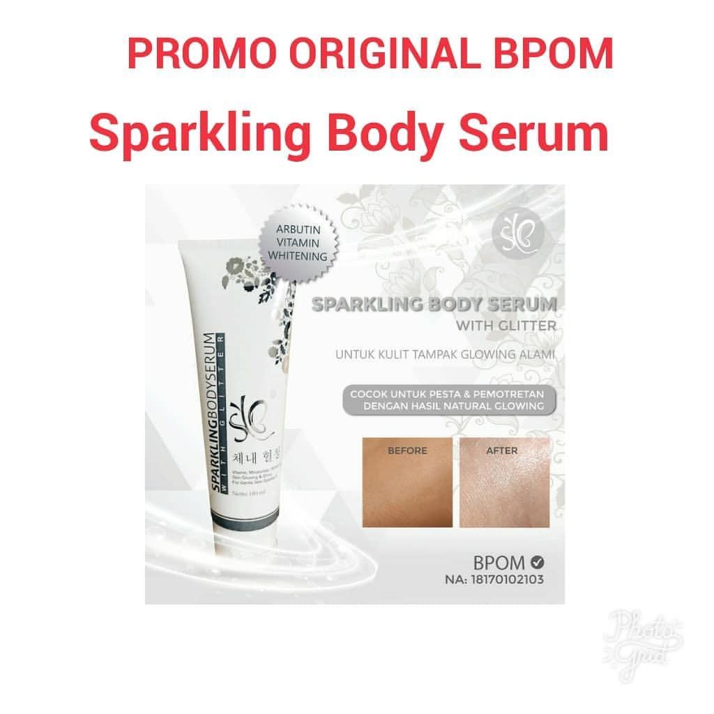 Fitur Sparkling Body Serum By Syb Bpom Pemutih Tubuh Instant Glow Badan Fair N Pink 160ml Ber Isi 180ml Whitening Laz Cod