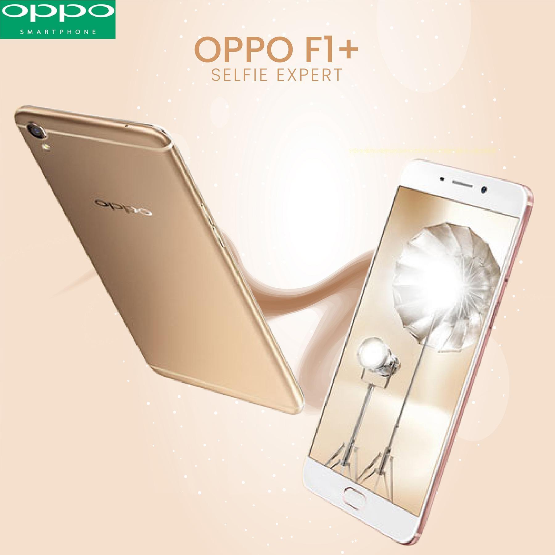 OPPO F1 Plus Selfie Expert 64 GB Ram 4 GB Gold FREE VR BOX DISKON 23%