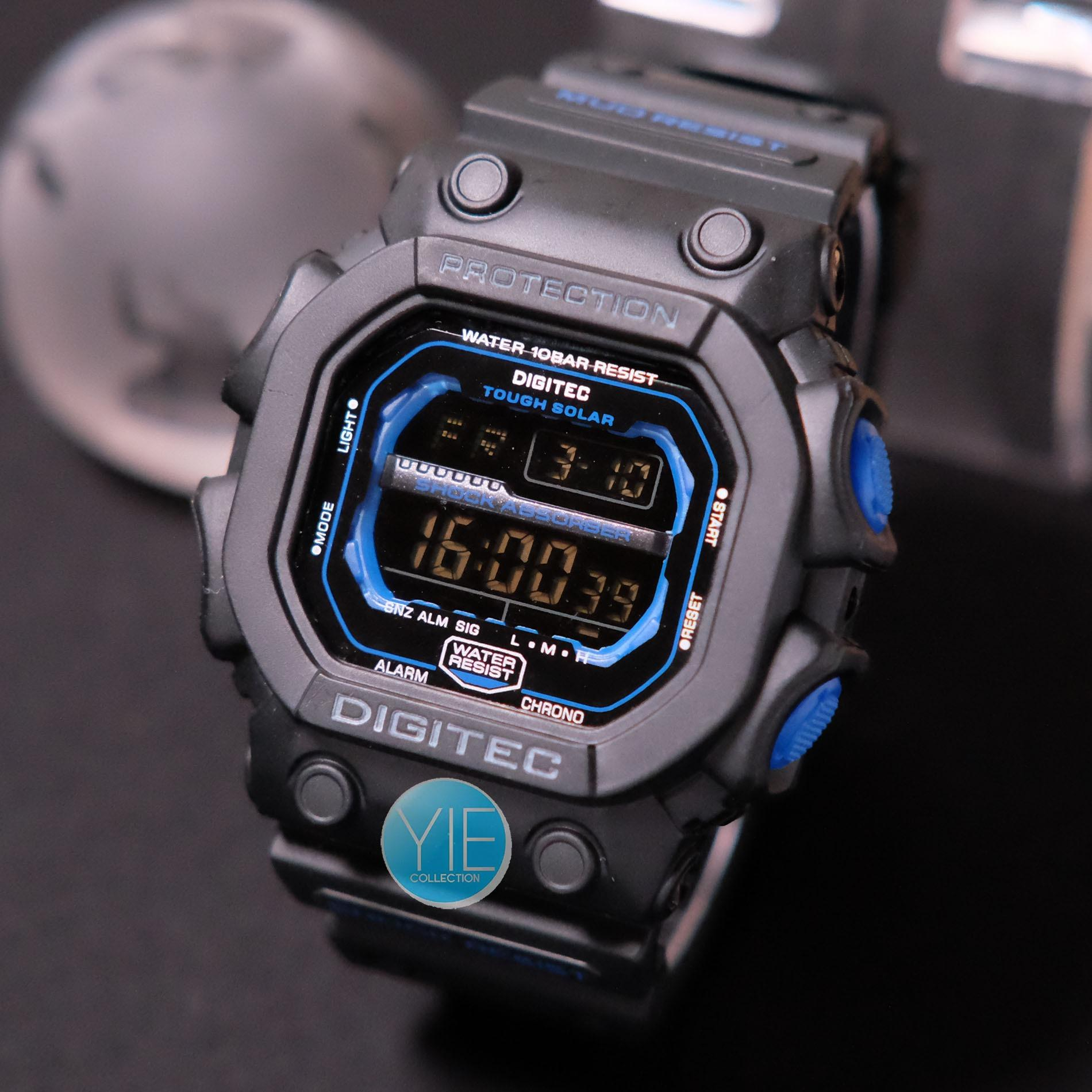 Jual Digitec Jam Tangan Sport Army Pria Dg 2012 T Black Anti Air Original Hitam List Biru