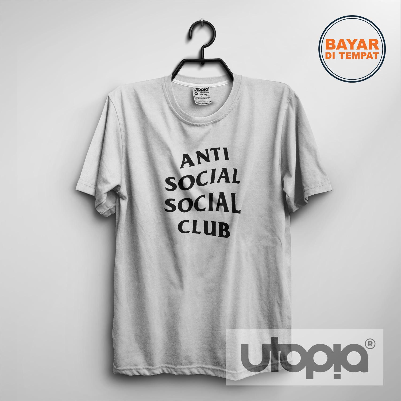 UTOPIA - Kaos T-shirt Distro Pria / Wanita - Anti Social Social Club