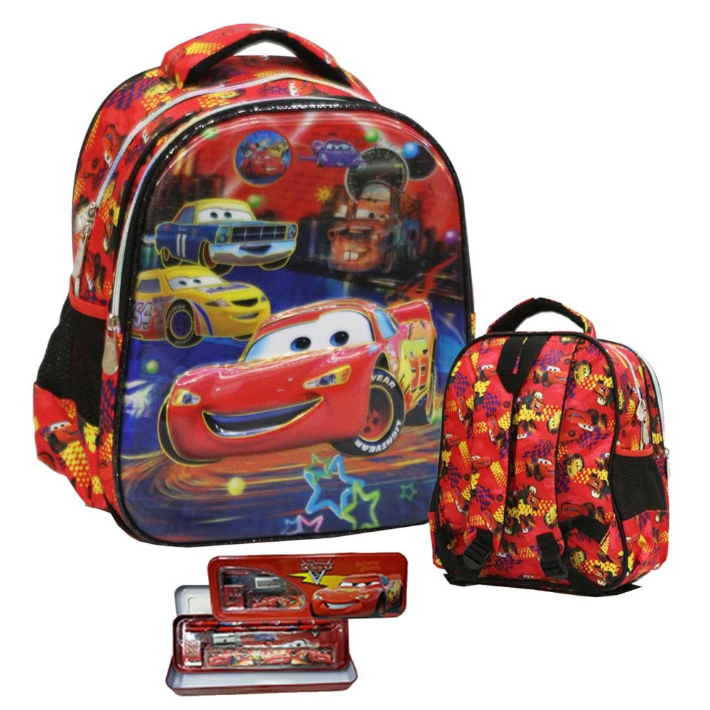 Harga Onlan Cars Mcqueen 5D Timbul Anti Gores Tas Ransel Tk New Model Dan Kotak Pensil Set Alat Tulis Red Black Asli