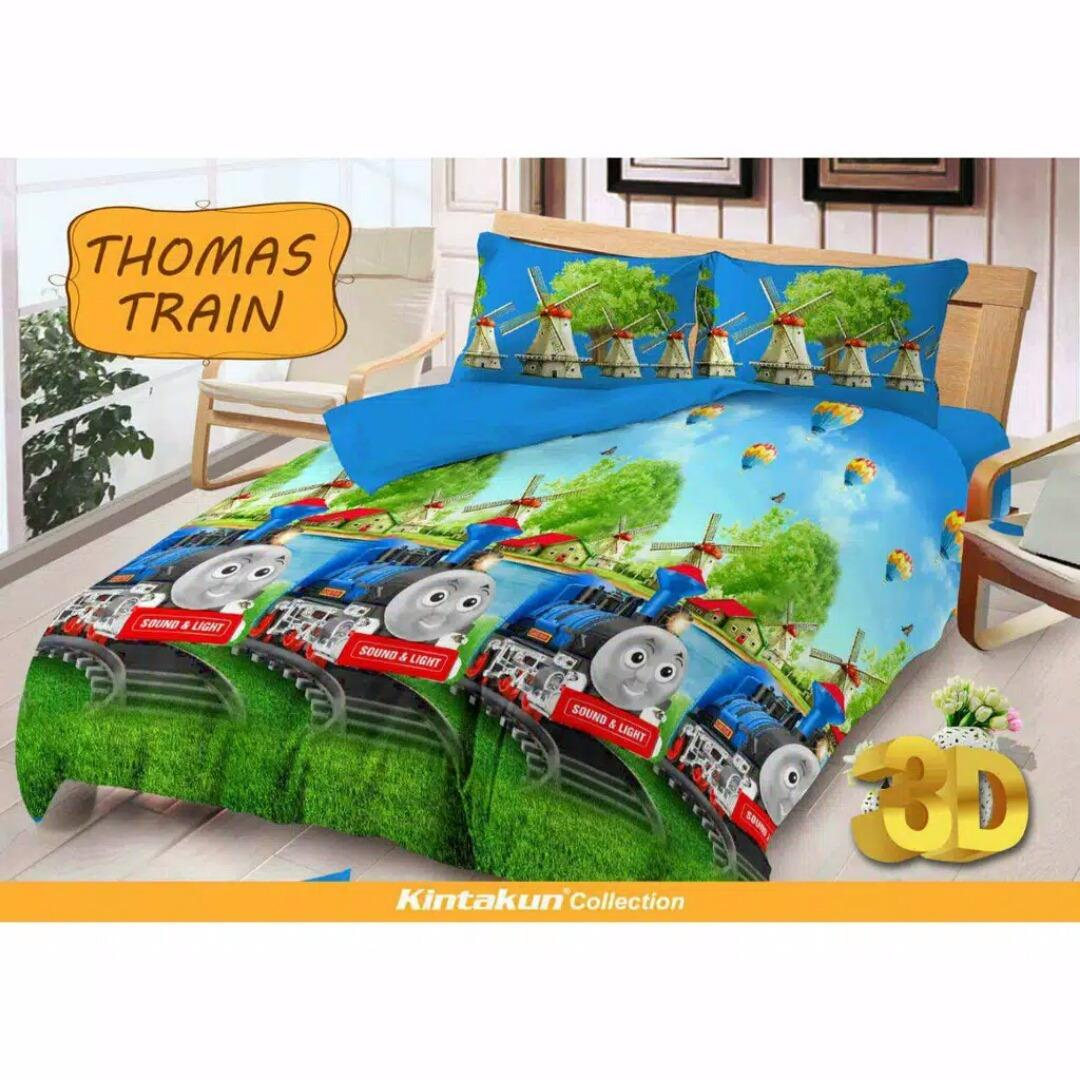 Fitur Sprei Kintakun Deluxe No 3 120 X 200 Single Size Motif Dluxe 120x200 Azaki No3 Thomas Train