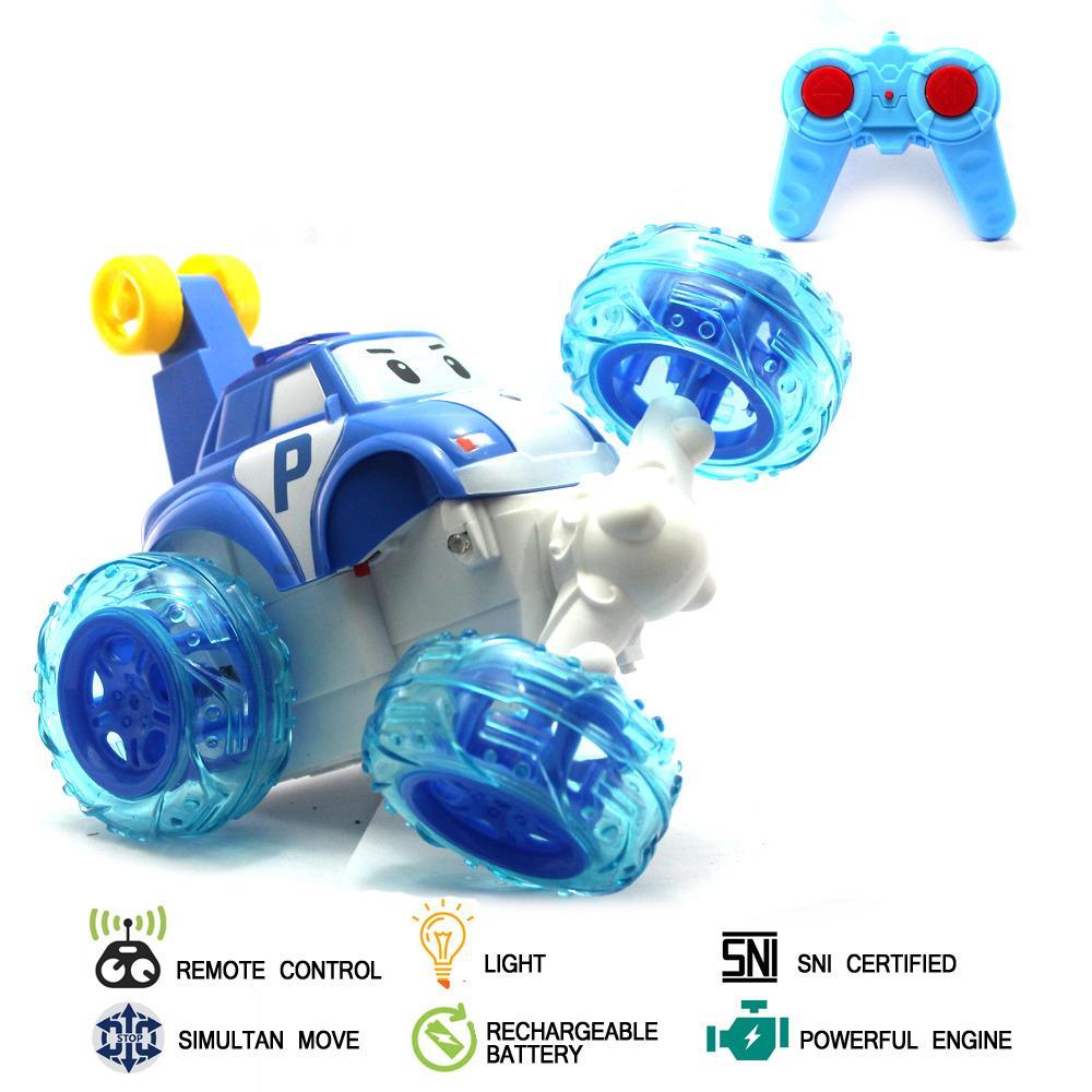 Kehebatan Mainan Anak Poli Robocar 4 Pcs 1 Set Transformer Mobil Remote Control Rc Stunt Car
