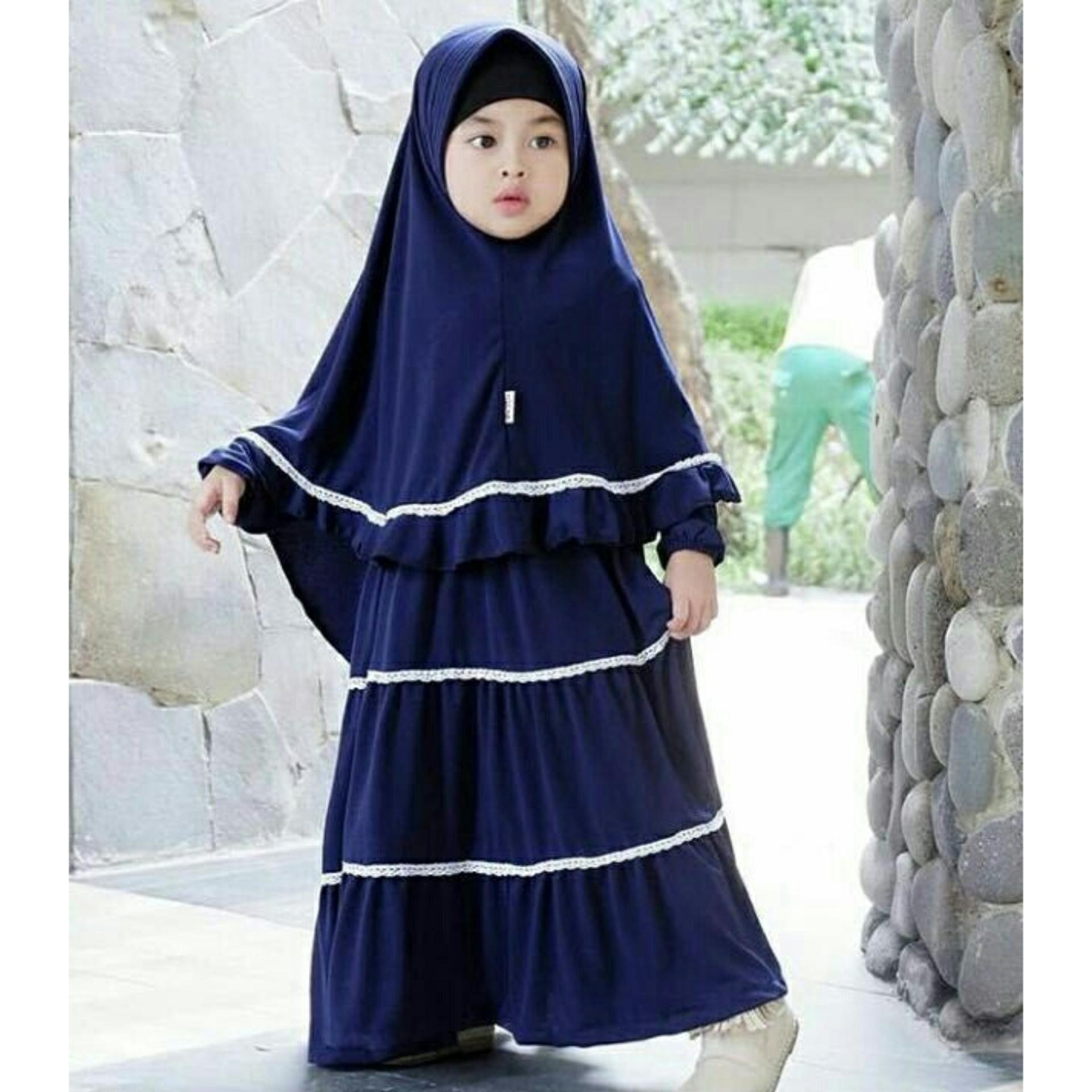 Beli Barang Pakaian Anak Perempuan Fashionable Gamis Kids Alini Online