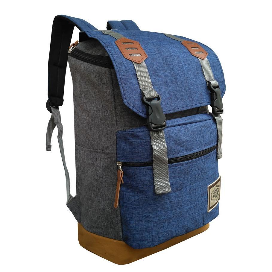 Harga Tas Backpack Pria Wanita Kanvas Punggung Ransel Kuliah Korean Bag Llc35961 Blue New