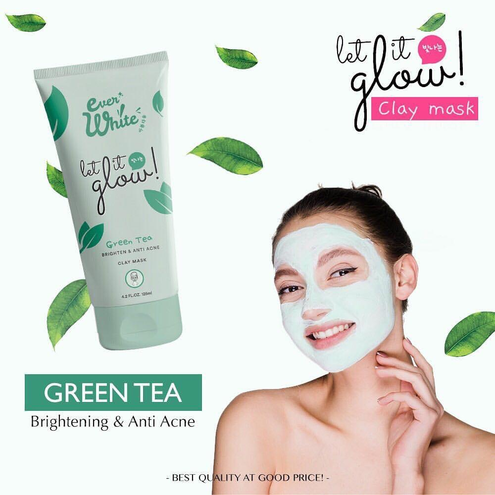 Everwhite Clay Mask Green Tea - Masker Wajah by Ever White