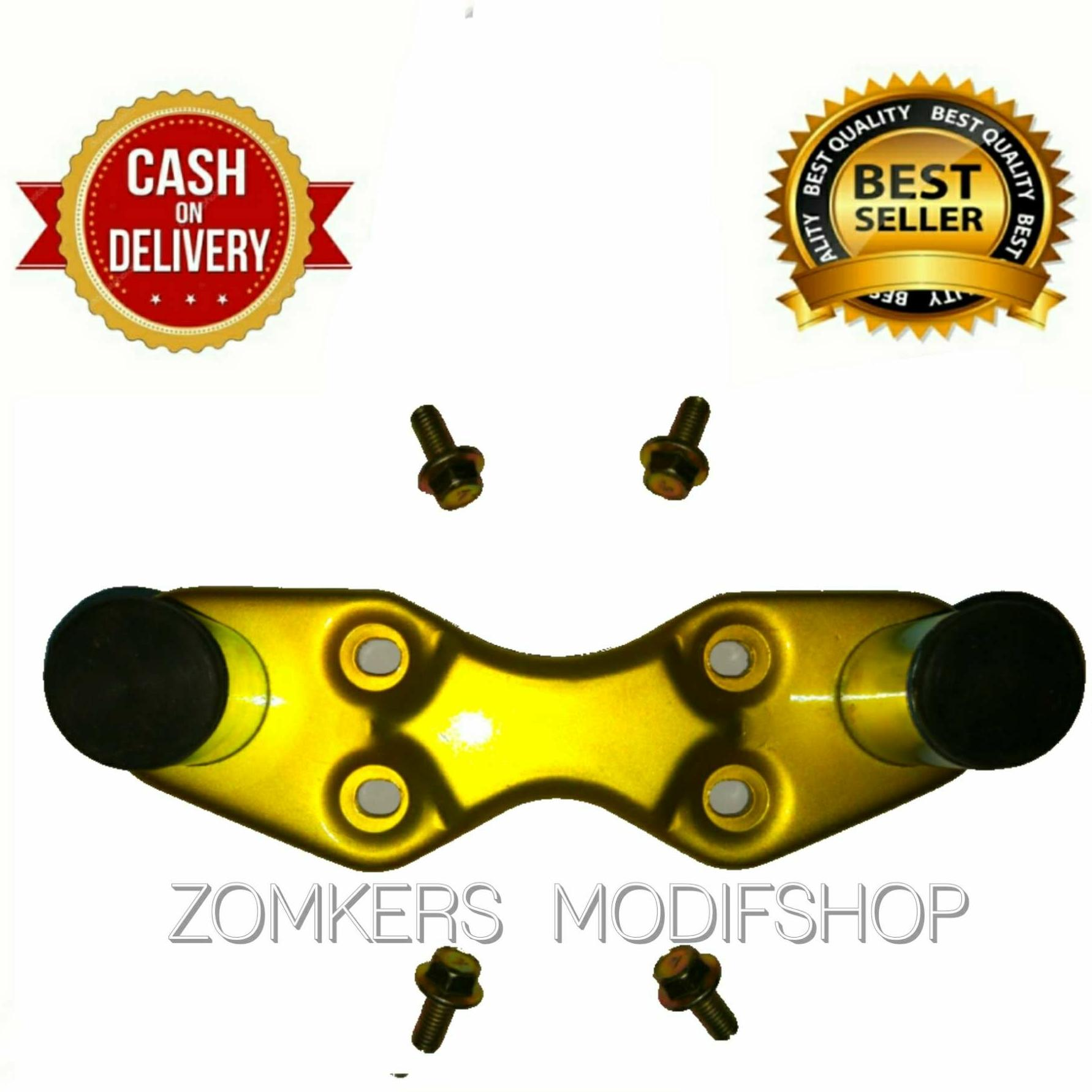Peninggi Stang Jepit Motor Auto D Bahan Besi Warna gold
