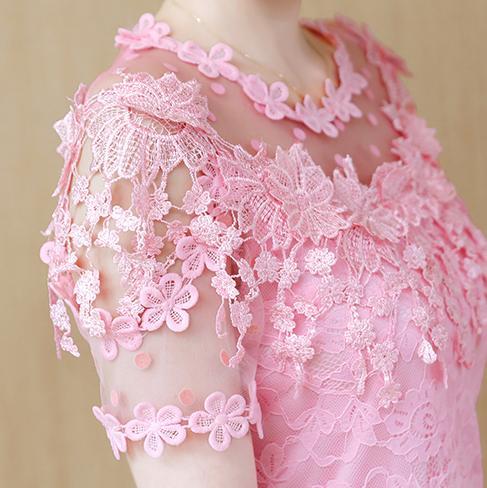 Lace top baju wanita pakaian musim panas 2019 model baru pasang super elegan manis Kemeja sifon lengan pendek Elegan Gaya Barat kemeja kecil Elegan - 4
