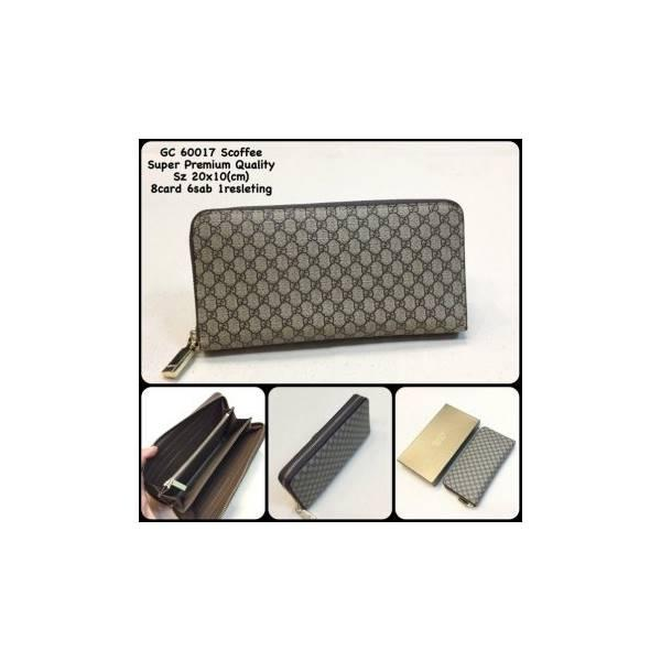 Dompet Gucci 60017 Scoffee Replica Dompet Resleting Dompet Murah Kulit