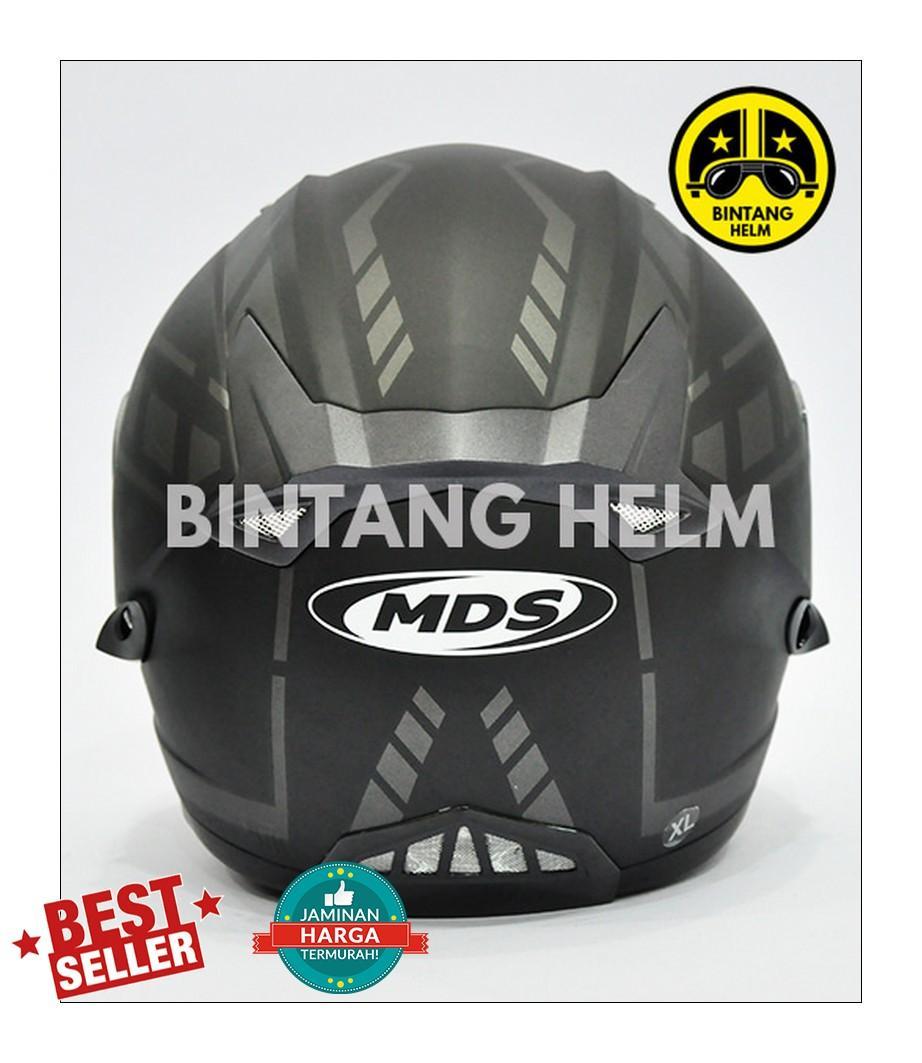 Kawasaki Helm Full Face Bajaj Black Doff Daftar Snail Mx309 Motocross Motif Skull Hitam Kilap Mds Provent Silver 3