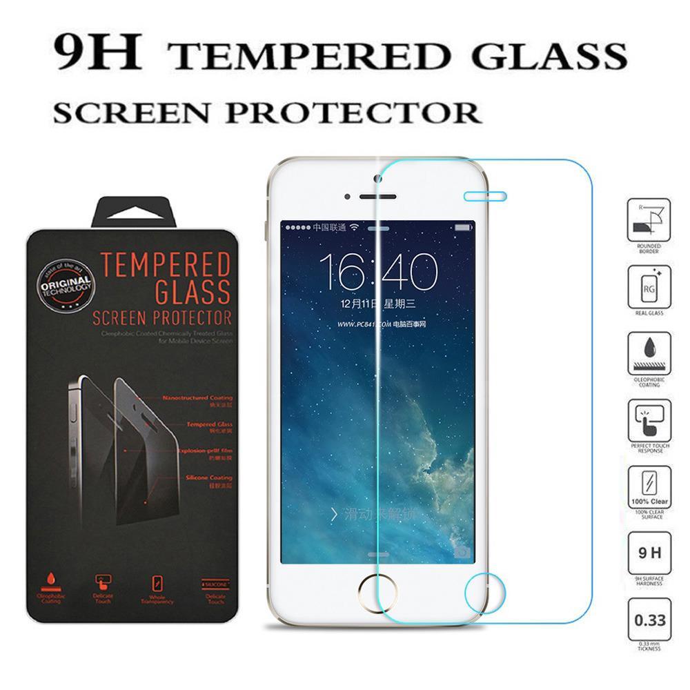 Tempered Glass Apple iPhone 5G Ukuran 4.0 Inch Temper Anti Gores Kaca 9H / Pelindung Layar / Temper iPhone 5S / Screen Guard / Screen Protection / Anti Gores Kaca Apple iPhone 5SE / Temper Kaca iPhone - Transparant