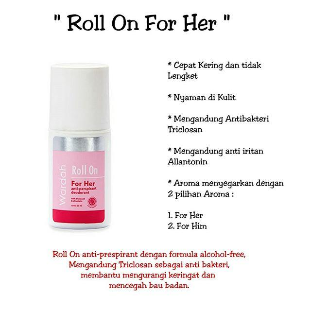 Roll On For Her Wardah Deodorant WAR-Roll-01-Her