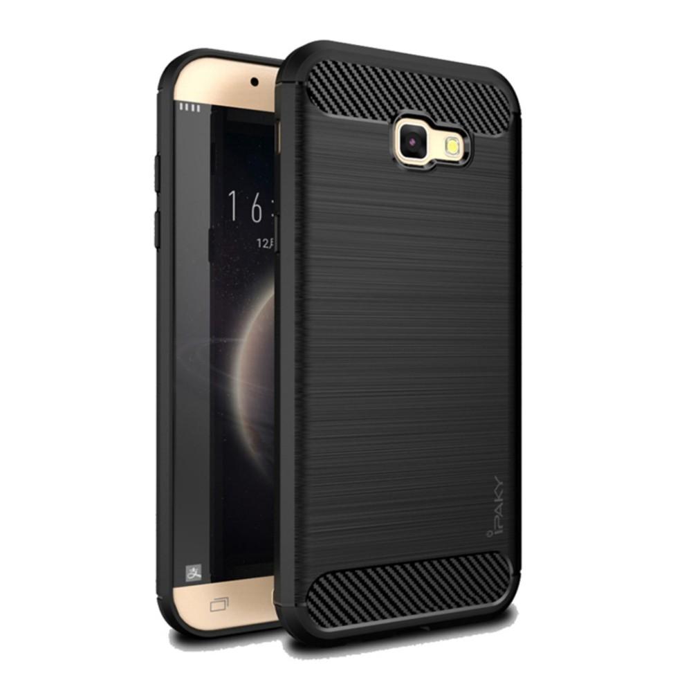 Original Lazada Case Ipaky Shockproof Carbon Hybrid For Samsung Galaxy J7 Pro 2017 / J730 - Hitam