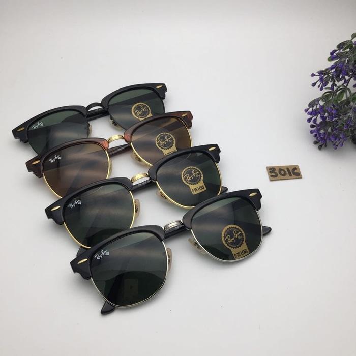 4e62a88f5 ... best price sweden kacamata rayban clubmaster kaca sunglasses pria  wanita hitam silver ready stock terbaru 1d588