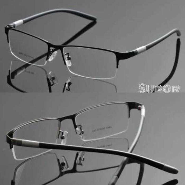 kacamata Half frame Black HF5 Kaca mata minus plus pria lebar