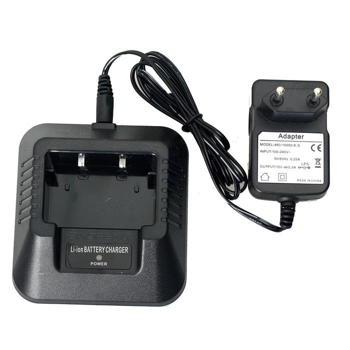 Baofeng Walkie Talkie Battery Charger For BF-UV5R - Black