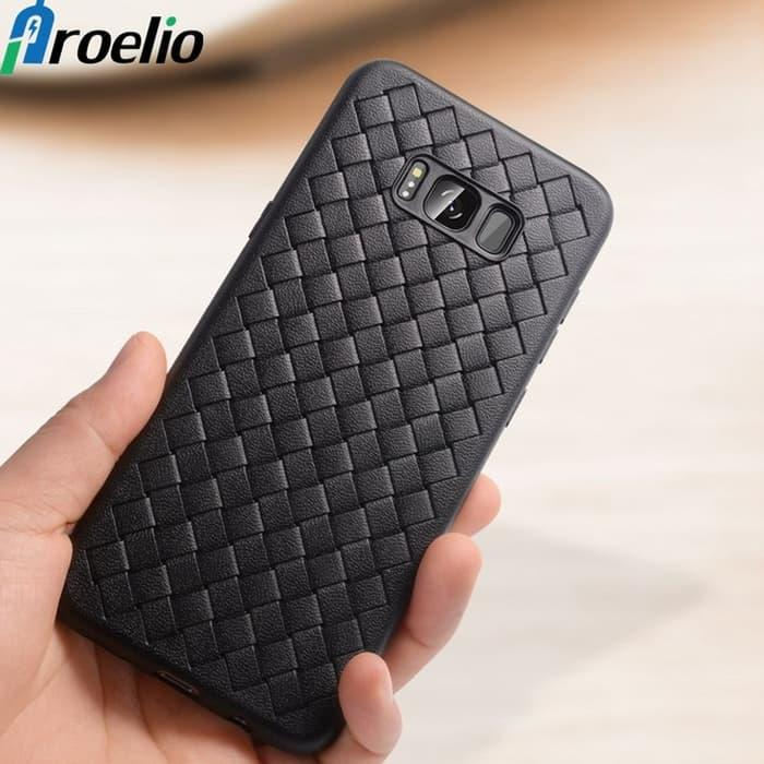 Features Woven Leather Soft Case Casing For Samsung Galaxy S8 Plus