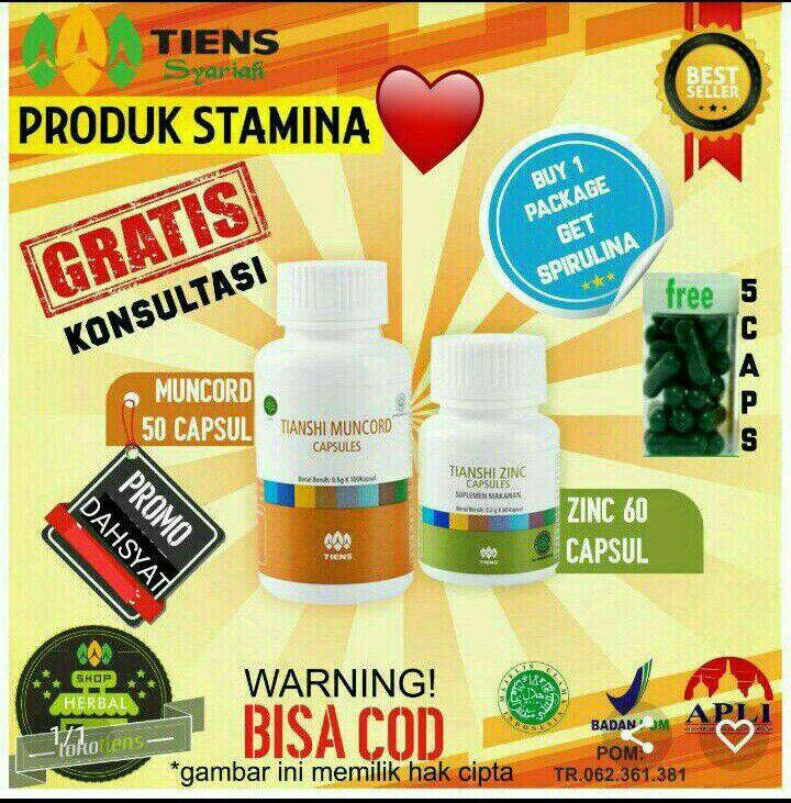 Spek Gratis Spirulina Spesial Promo Sadis Tiens Muncord Dan Zinc Herbal Penambah Stamina Dan Imunitas Tubuh By Tokotiens Jawa Timur