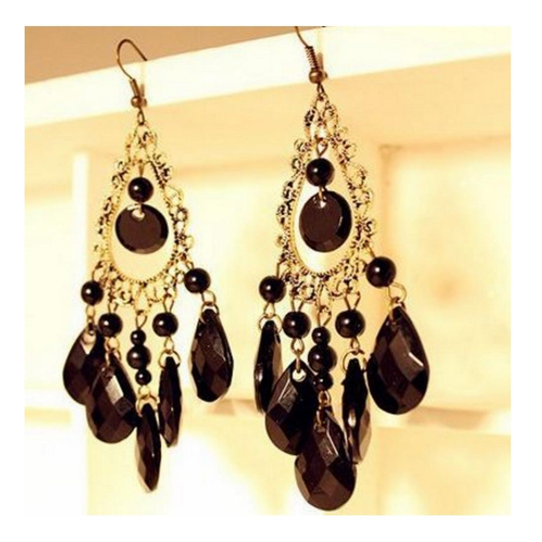 TOKO49 - Anting rumbai berlian retro motif air