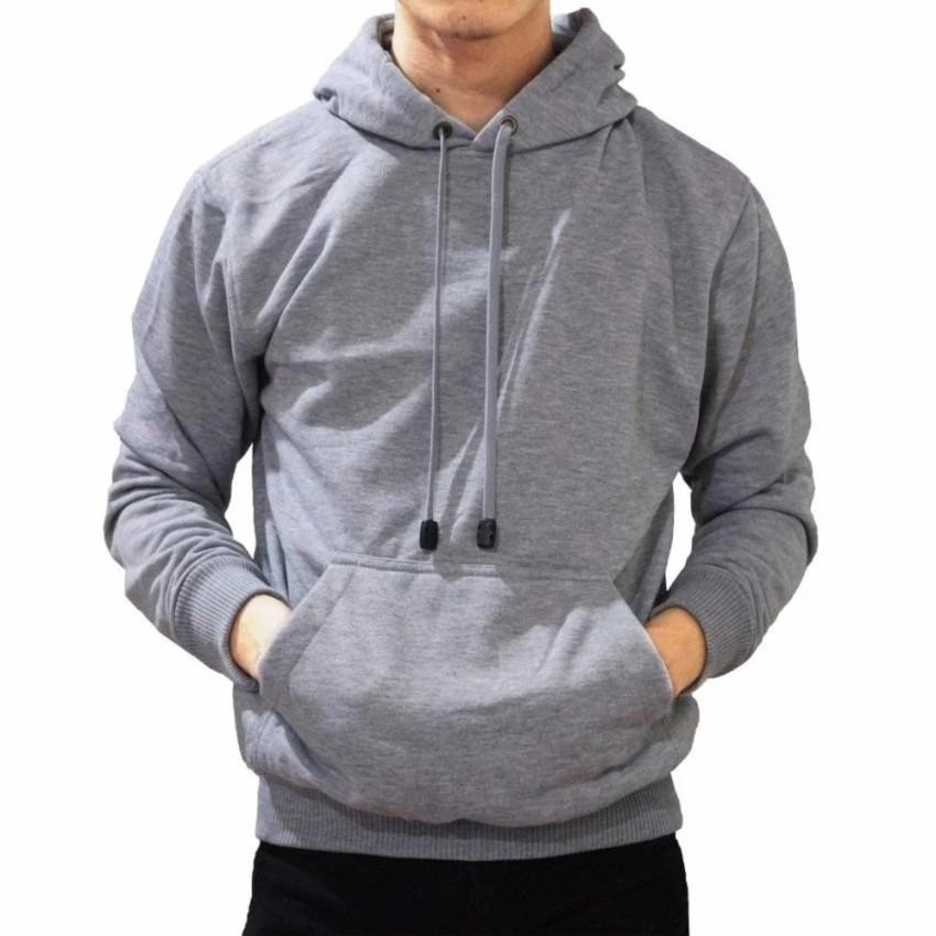 Spesifikasi Jaket Sweater Hoodie Pria Jumper Polos Fleece Online