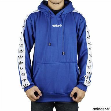 Jaket Sweater Pullover Hoodie Adidas TNT Tape ( Light Blue / Biru Tua )