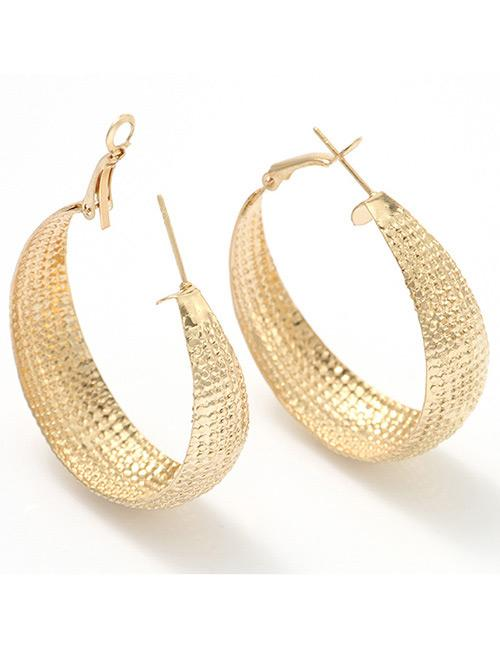 LRC anting tusuk Fashion Color Pure Color Decorated Earrings