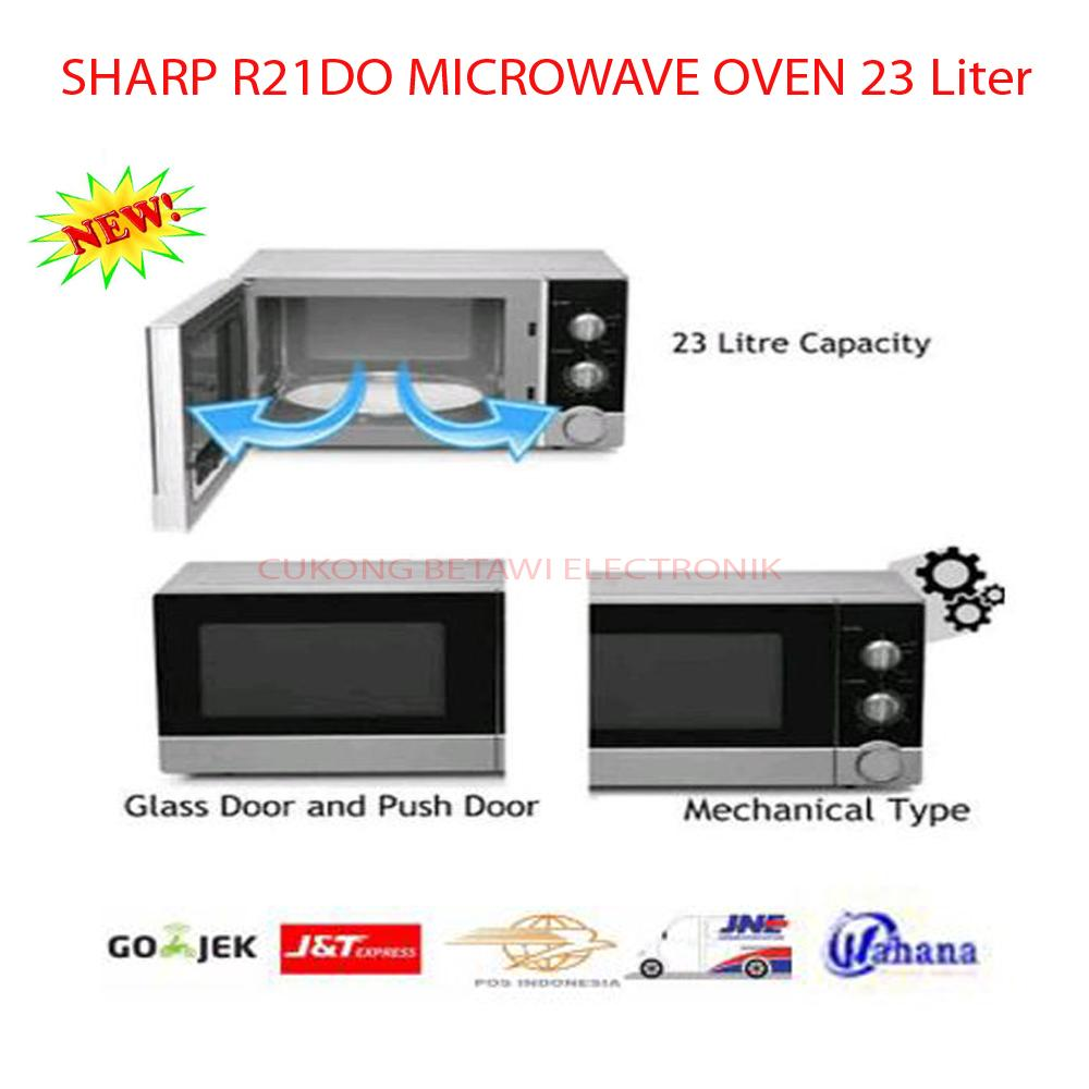 Sharp R-21DO(S)-IN Straight Microwave Oven 23Liter Low Watt 450W