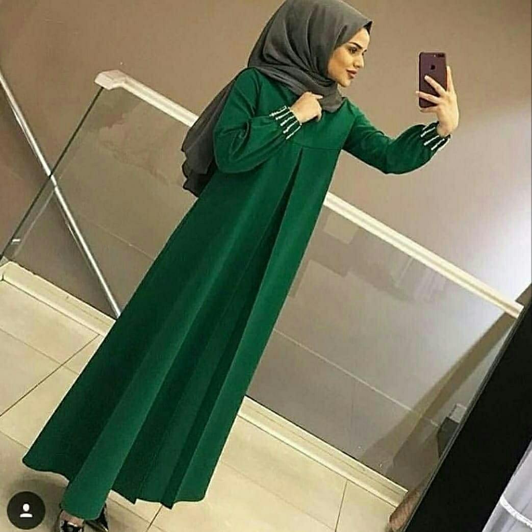 Hc - set Maxi gamis freya - baju muslim wanita - dress Maxi - busana Muslim b79d45bd02