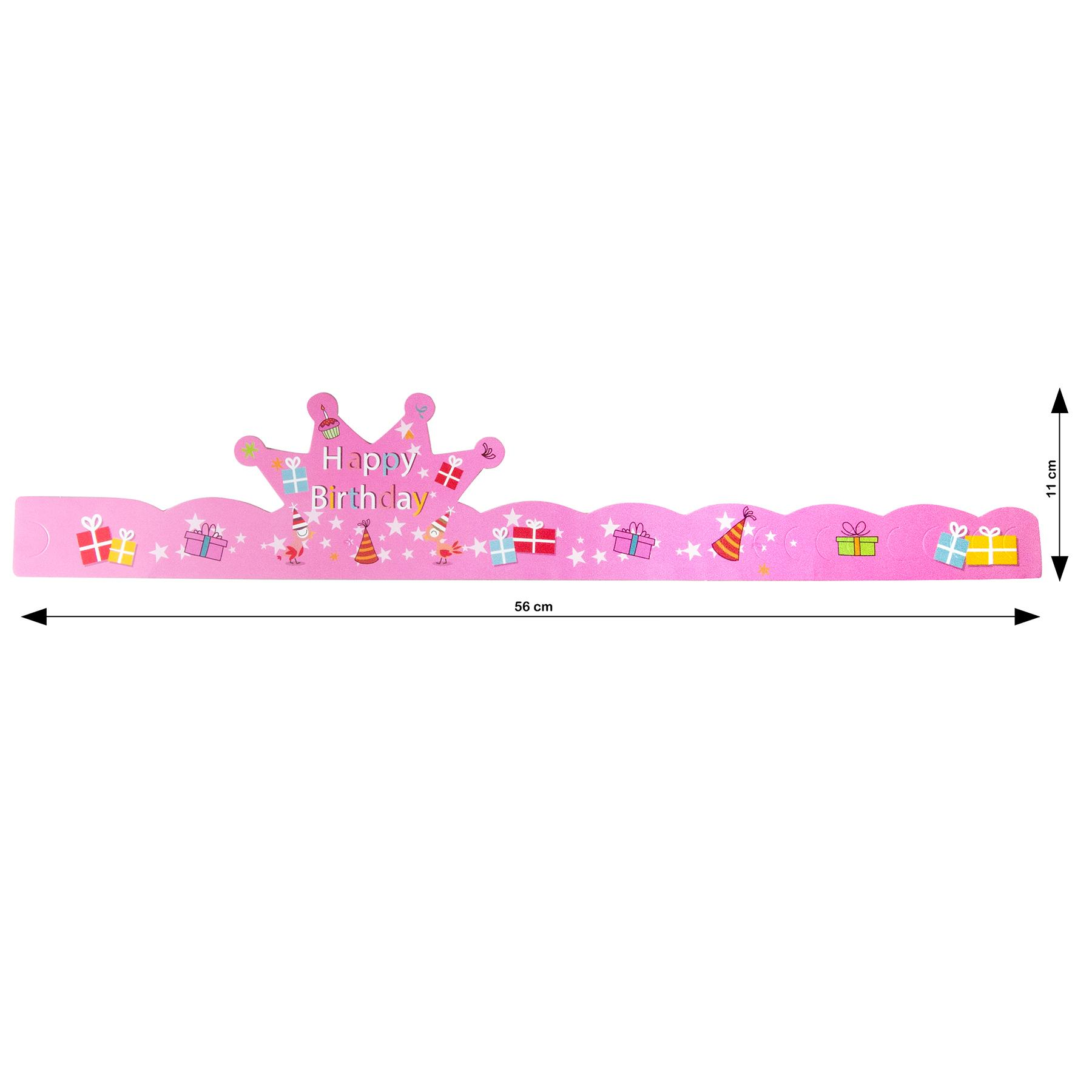 Balonasia Birthday Set Ulang Tahun Gold Pink Daftar Harga Terbaru Dekorasi Backdrop Garis Polkadot Detail Gambar Magnolia Topi Crown
