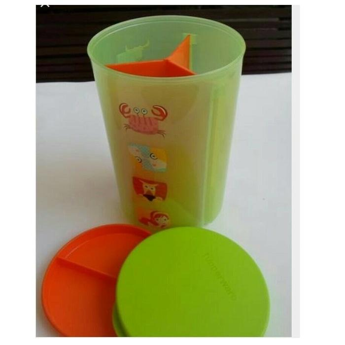 Tupperware Trio Lolly Toples 3 Sekat Kecil Small Canister