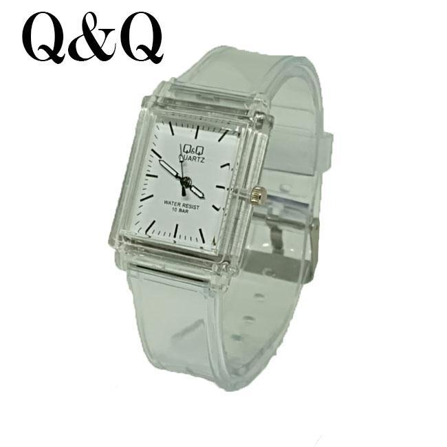 QQ Q&Q watch transparan- jam tangan wanita sporty desain kasual dan cantik - analog -