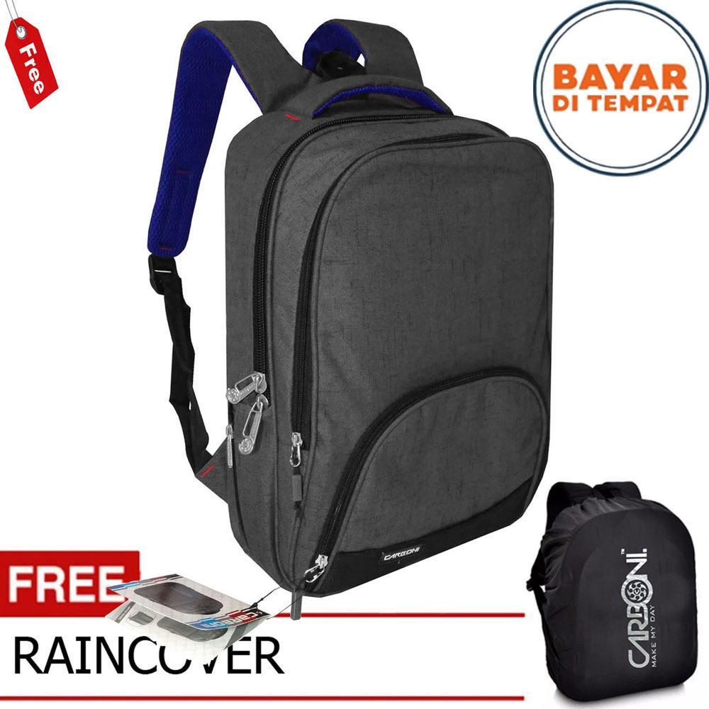 Carboni Tas Ransel Laptop 17 Inchi Ra00015 Polyester Serat Sintetis Original Grey Raincover Diskon Dki Jakarta