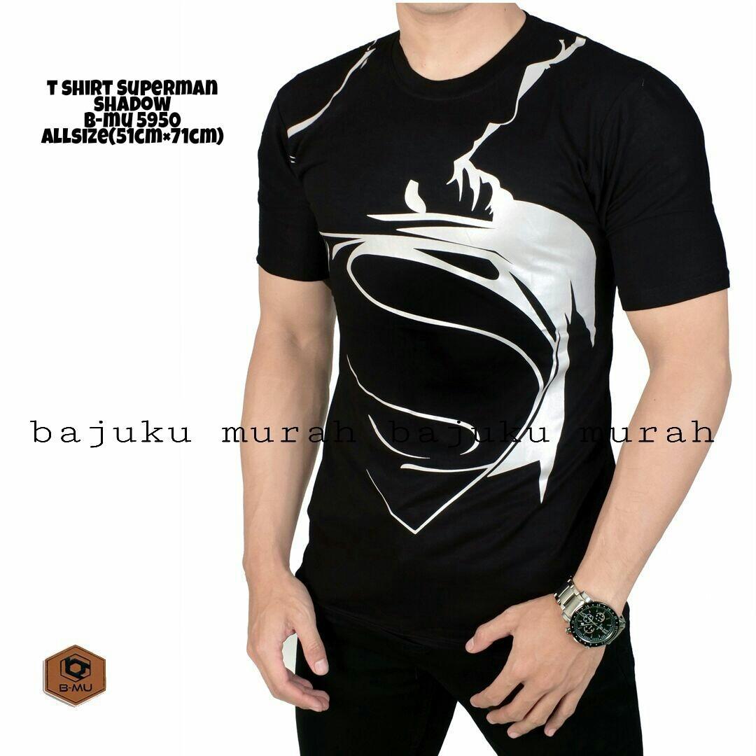 bajuku murah t shirt kaos superman shadow mobile legend jagoan jawara sweater kaos pria tangan pendek