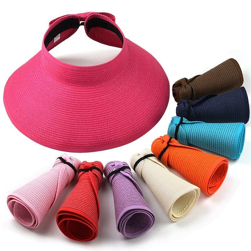 Gaya Korea topi pantai topi Pelindung Sinar Matahari Topi caddy Topi jerami  perempuan Musim panas Pelindung fe22d93d3e