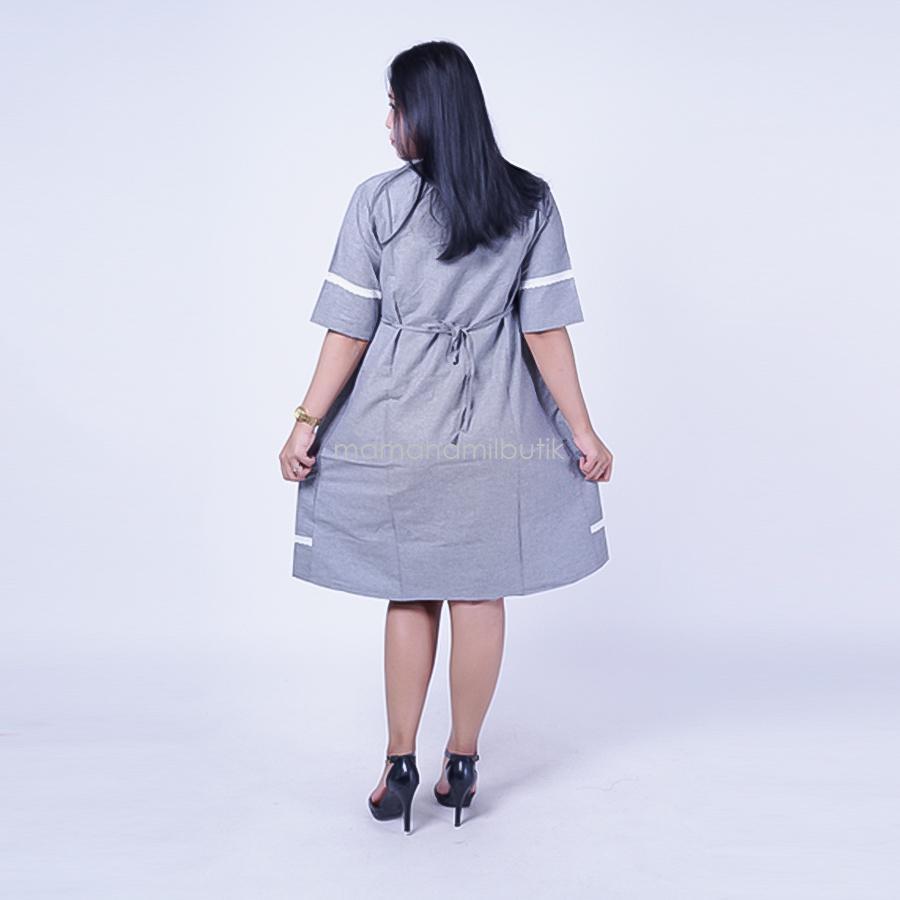 Ning Ayu Dress Hamil Rami 3/4 Renda - DRO 897 / Baju Menyusui Lengan Panjang / Baju Atasan Menyusui / Baju Menyusui Muslimah / Baju Muslim Wanita untuk Ibu Menyusui/ Baju Hamil Untuk Kerja / Baju Hamil Untuk Kerja Modis