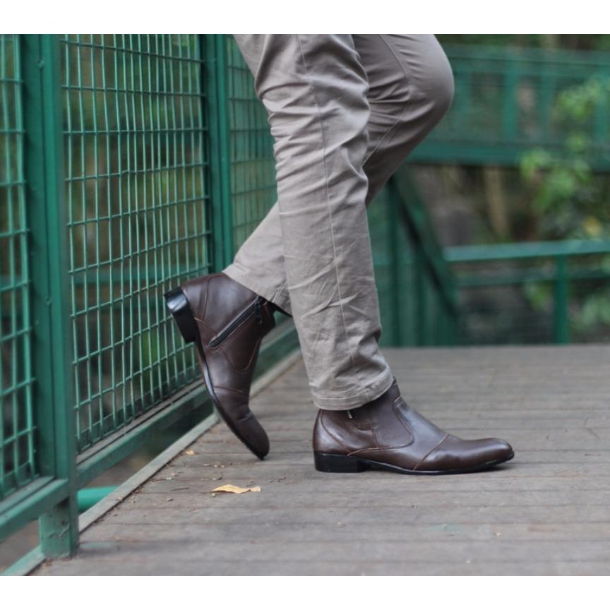 Toko B A E Weah Sepatu Pantofel Resleting Sepatu Kulit Asli Pria Pantofel Online