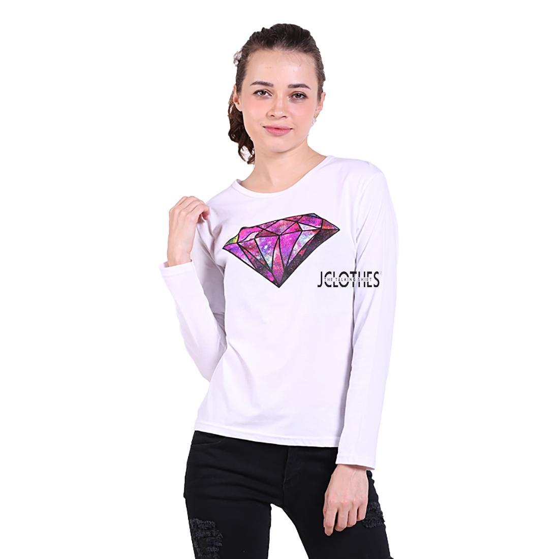 JCLOTHES Tumblr Tee / Kaos Cewe / Kaos Lengan Panjang Wanita Diamond
