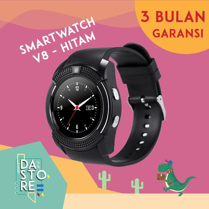Obral Smartwatch V8 Smart Watch V8 Bluetooth Sim Card Memory Smartwatch Dz11 Murah