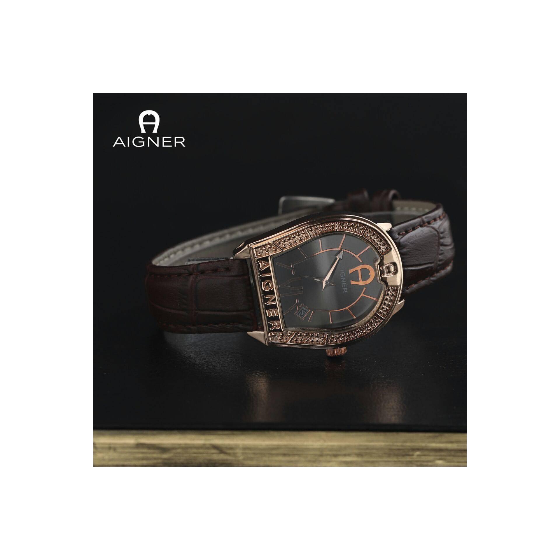 Jam Gelang Set Aigner Date Daftar Harga Terlengkap Indonesia A24268 Aprilia Biru Rosegold Tangan Wanita Gold Leather Strap