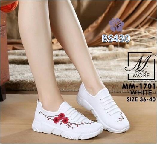 Detail Gambar Sepatu Wanita Sneaker Kelsey Sakura Putih - BS430 / Fashion Wanita / Sepatu / Sepatu Wanita / Sepatu Sneakers / Sepatu Flat / Sepatu Wanita ...