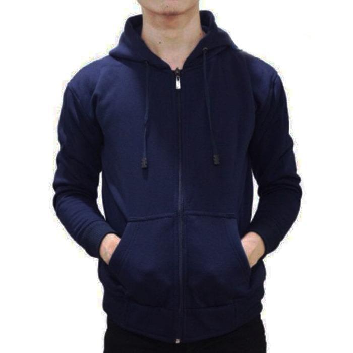 Berapa Harga Jaket Sweater Hoodie Pria Dan Wanita Zipper Polos Cotton Fleece Murah Di Dki Jakarta