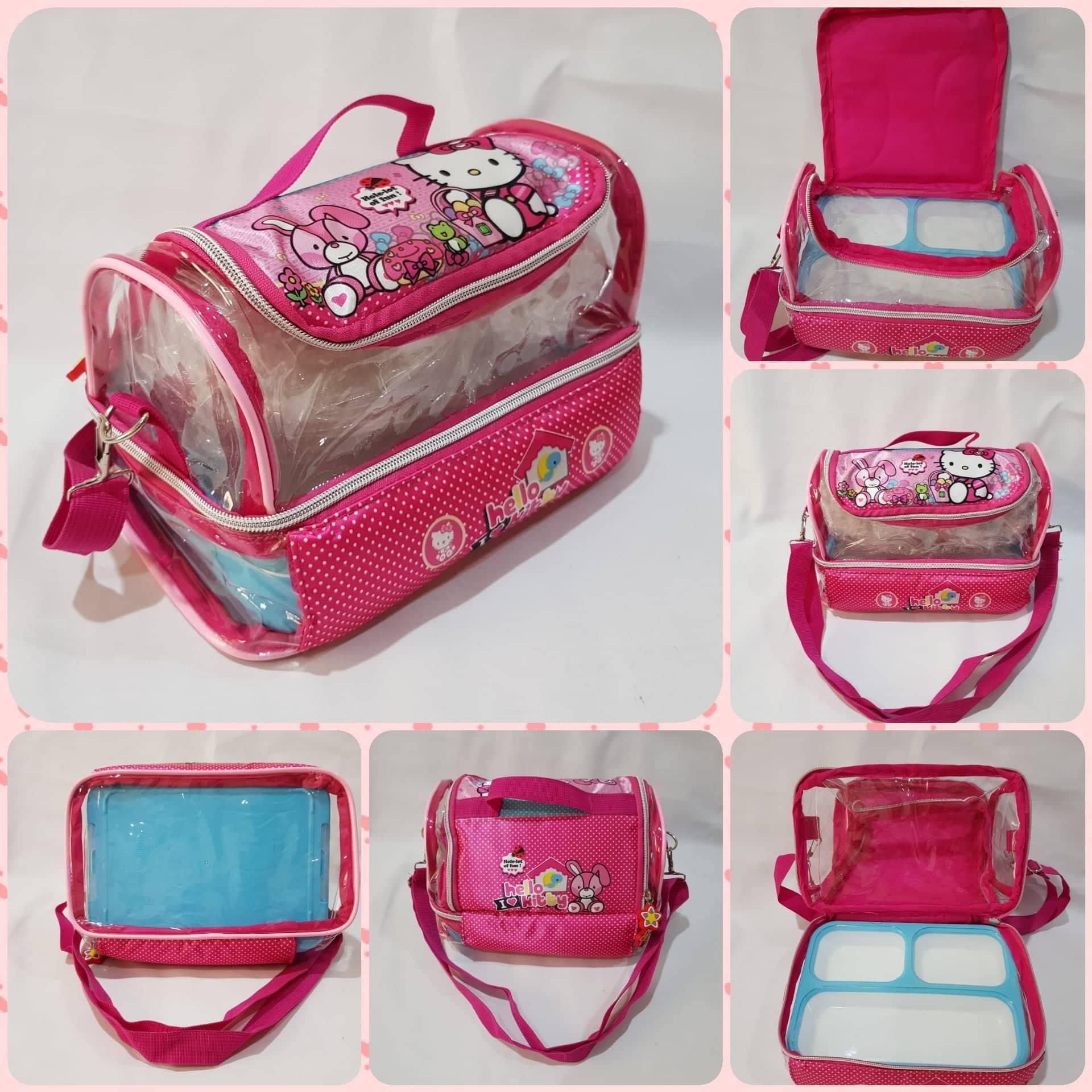 Tas Bekal / Lunch Bag Anak Slempang/Tenteng Mika Tingkat Karakter