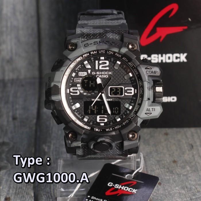 Jam Tangan G-Shock Mudmaster Casio Gwg1000 Army Loreng Abu Abu Grey  - Khc7om