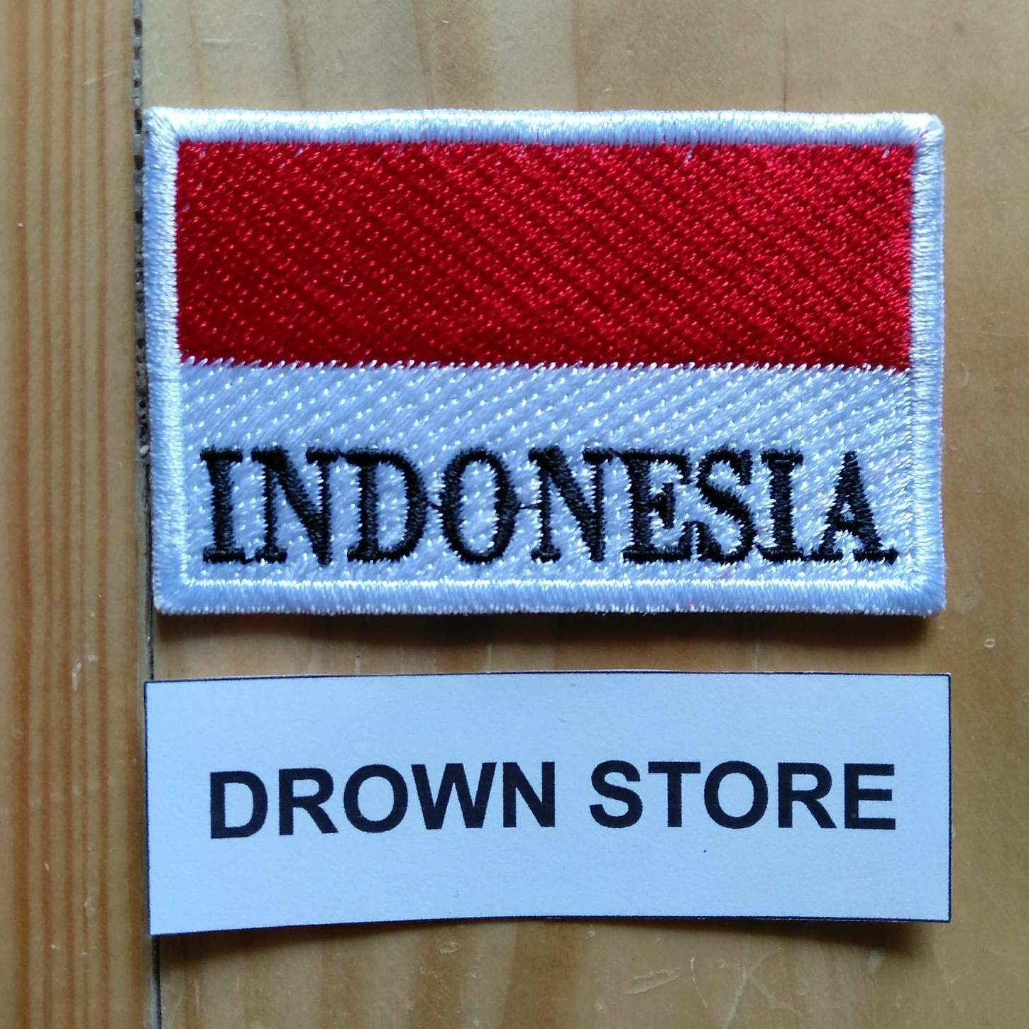 Bendera amerika Serikat Patch bordir patriotik militer merah putih - Internasional - 5. Source · Emblem Bordir Patch Bendera Indonesia + Tulisan