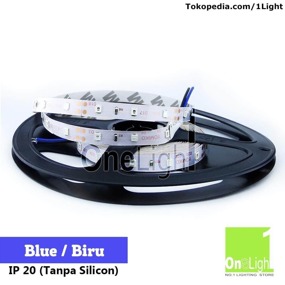 Lampu LED Strip Flexible Biru Blue Roll 5M 4,8W IP20 SMD 2835 3528
