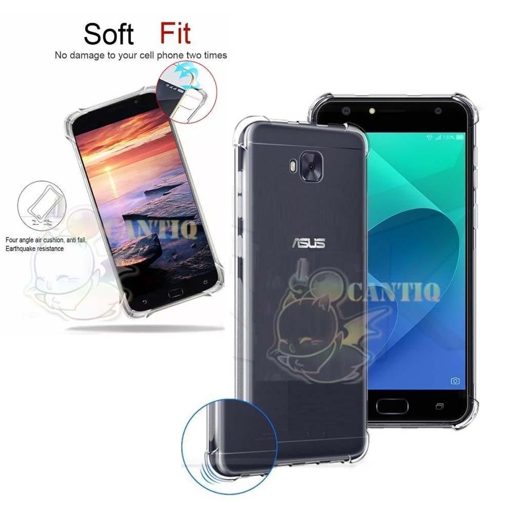 QCF Soft Case Anti Shock Anti Crack Asus Zenfone 4 Selfie / Silikon Zenfone ZD553KL Casing Asus Zenfone 4 Selfie / jelly Anti Crack Case Asus Zenfone 4 Selfie - Bening