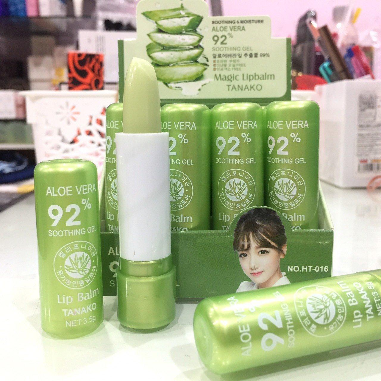Kelebihan Tanako Lip Balm Aloe Vera 99 Magic Lipstick Moisturizing Bioaqua 1 Pcs 5