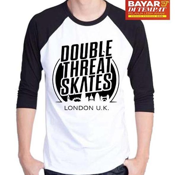 Jual Sz Graphics Double Skates Kaos Distro T Shirt Pria Kaos Raglan Pria T Shirt Fashion Pria Kaos Fashion Pria Kaos Cowok T Shirt Cowok Hitam Putih Dki Jakarta Murah