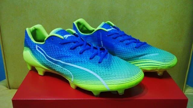 DISKON Sepatu Bola   Soccer Puma Evospeed Fresh Blue Safety Yellow - FG  TERMURAH 762f158272